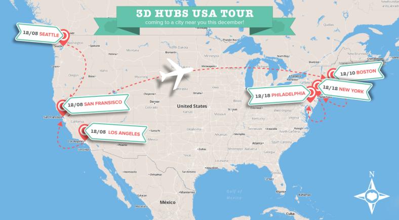 3D Hubs USA unlock tour