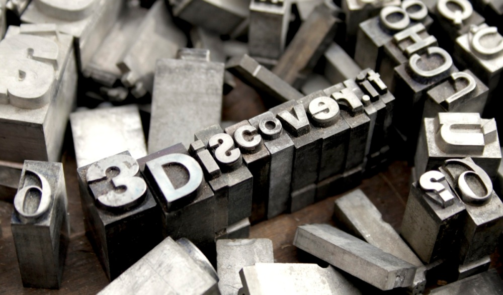 3Discover cover stampa caratteri mobili big