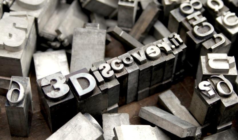 3Discover cover stampa caratteri mobili big