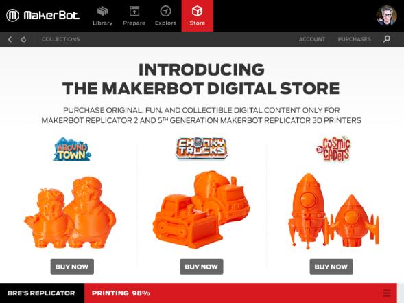 makerbot desktop thingiverse