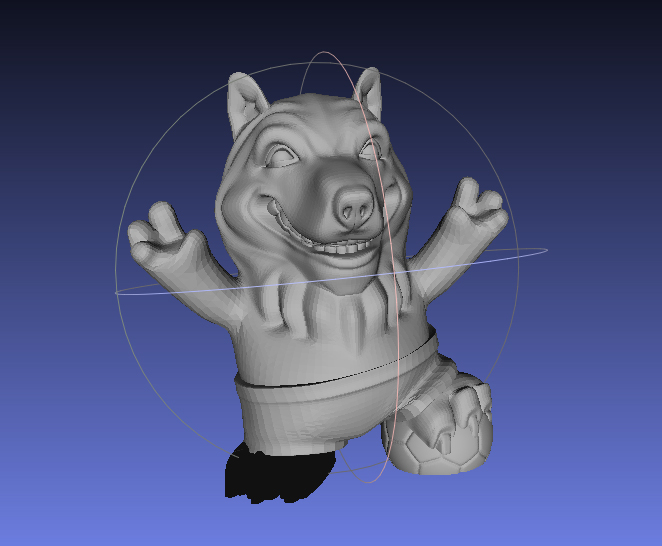 italy-mascot-3dmodel-wolf