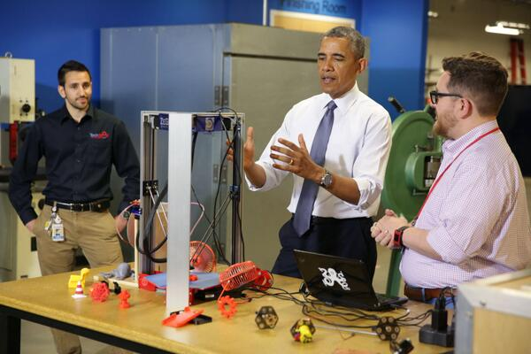 obama at white house maker faire