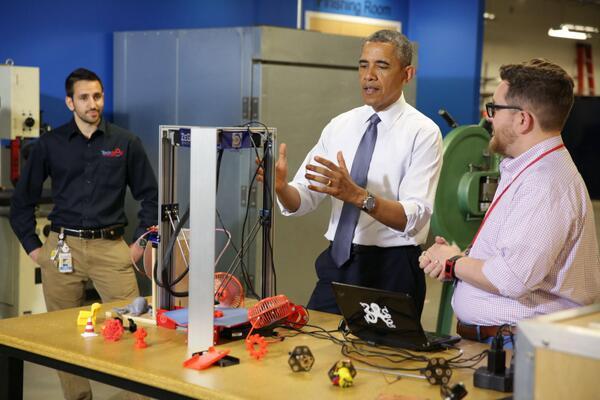 obama at white house maker faire