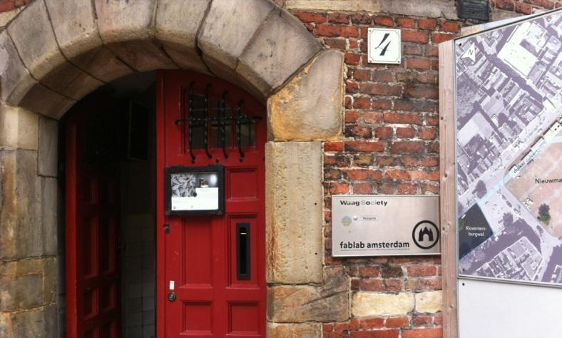 waag fab lab amsterdam entrance