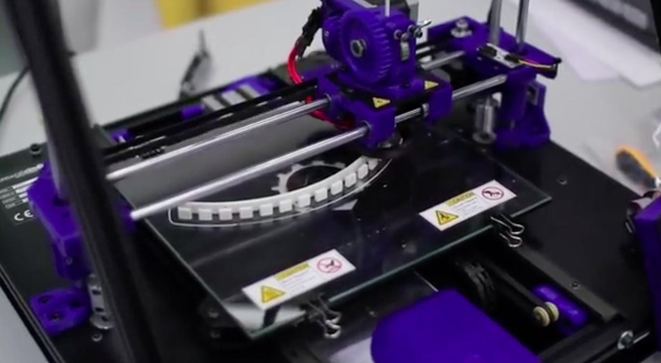 3d printer ciruclar knitic