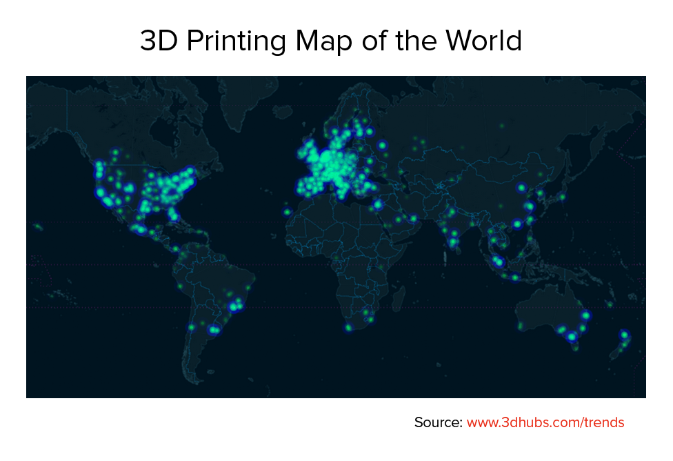 3D Printing Map of the World January 2015
